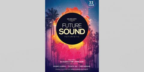 Future Sound DJ Free PSD Flyer Template