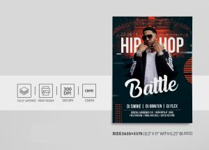 Hip Hop Performance Free PSD Flyer Template