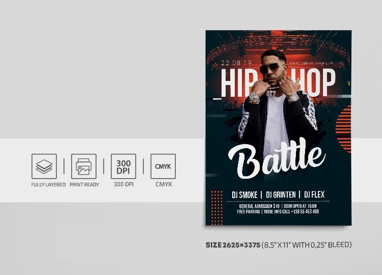 Hip Hop Performance Free PSD Flyer Template