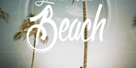 In the Beach Free Summer PSD Flyer Template