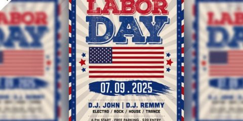 Labor Day PSD Free Flyer Template