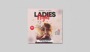 Ladies Night PSD Free Flyer Instagram Templates