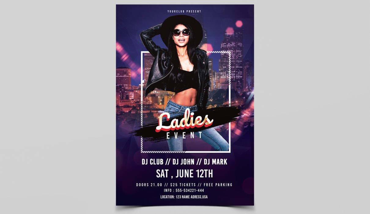 Ladies Night Vibe Free PSD Flyer Template
