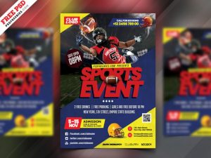 NFL Football Free PSD Flyer Template