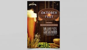 OktoberFest Party PSD Free Flyer Template