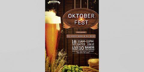 OktoberFest Party PSD Free Flyer Template
