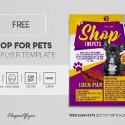 Pets Care & Shop Free PSD Flyer Template