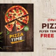 Pizza Food & Restaurant Free PSD Flyer Template