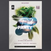 Pool Party Free Summer PSD Flyer Template