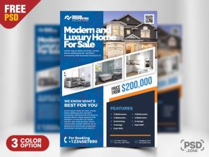 Real Estate Agency Free PSD Flyer Template