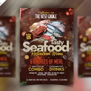 Seafood Restaurant Free PSD Flyer Template