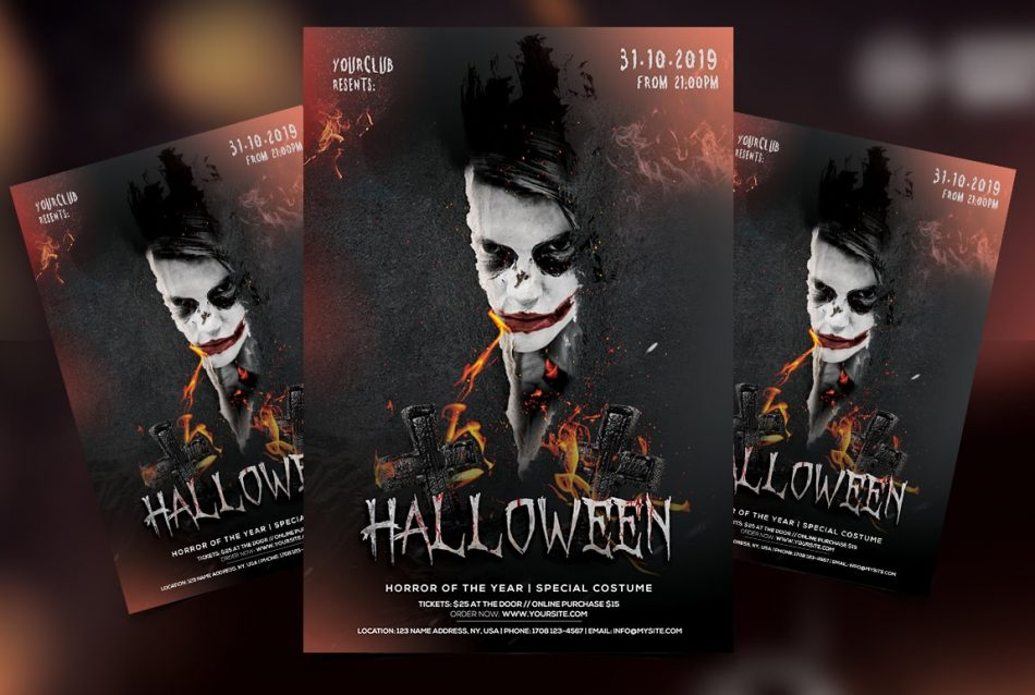 Spooky Night Free Halloween PSD Flyer Template