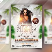 Summer Day Party Free PSD Flyer Template