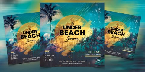 Summer Night Event Free PSD Flyer Template