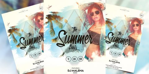 Summer Weekend PSD Free Flyer Template