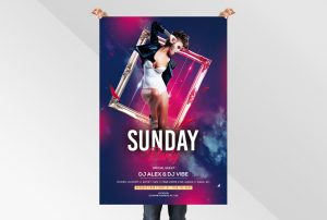 Sunday Party Free PSD Flyer Templates