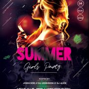 The Summer Night FREE PSD Flyer Template