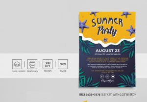 Tropical Summer PSD Free Flyer Template