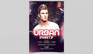 Urban Mix Party Free PSD Flyer Template