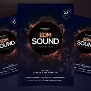 EDM Sound PSD Free Flyer Template