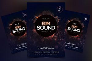 EDM Sound PSD Free Flyer Template