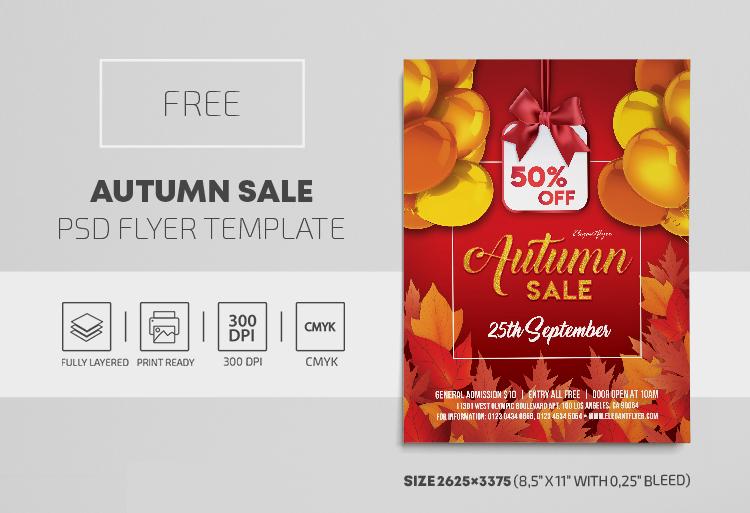 Autumn Sale Free PSD Flyer Template