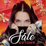 Autumn Seasonal Sale PSD Flyer Template