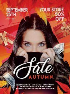 Autumn Seasonal Sale Free PSD Flyer Template