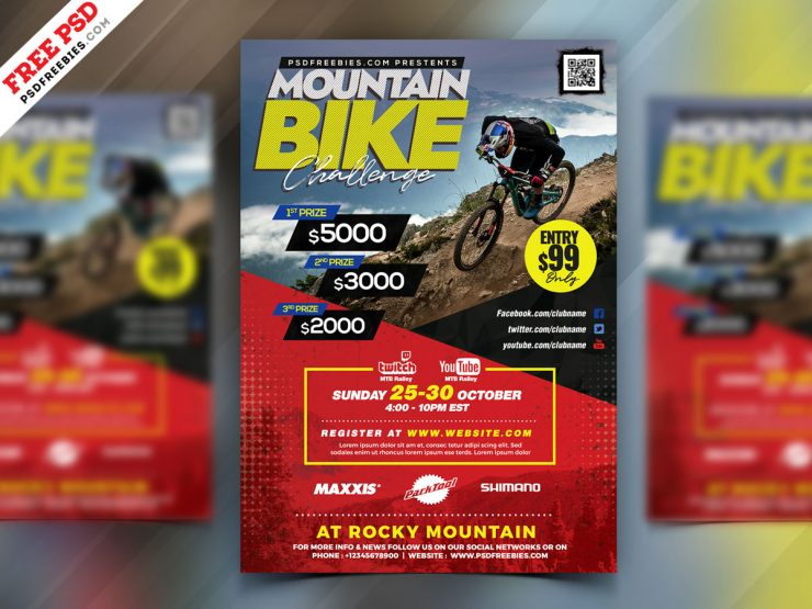 Bike and Sport PSD Flyer Template