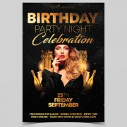 Birthday Night Event Free Flyer Template