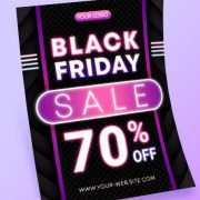 Black Friday Free Flyer PSD