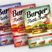 Burger Food Freebie PSD Flyer Template