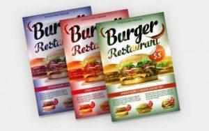 Burger Food Freebie PSD Flyer Template