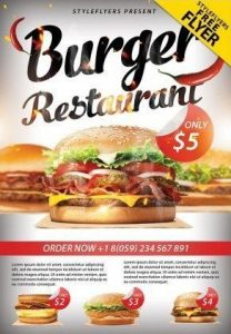 Business Restaurant Free PSD Flyer Template