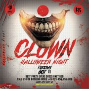 Clown Night Free PSD Flyer Template