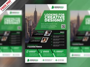 Corporate Design Free PSD Flyer Template