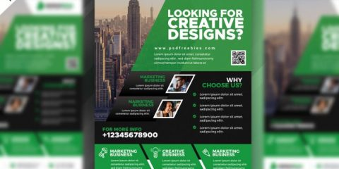 Corporate Design Free PSD Flyer Template