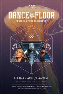DJ Floor Free Dance Flyer Template