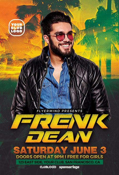 DJ Guest Free PSD Flyer Template