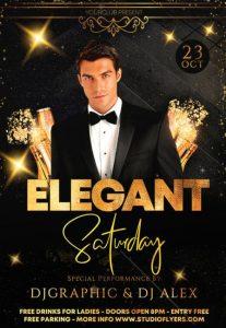 Elegant Event Free PSD Flyer Template