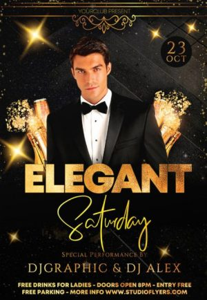 Elegant Event Free PSD Flyer Template