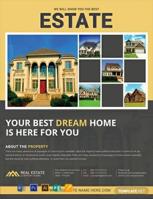 Estate Company Free Flyer Template