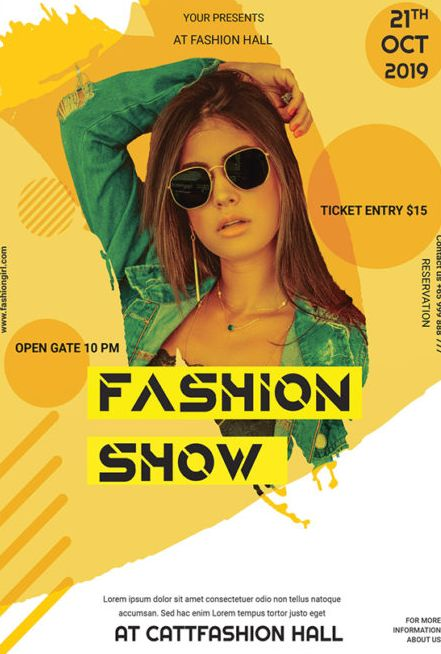 Fashion 2019 Free PSD Flyer Template