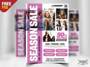 Fashion Big Sale PSD Flyer Template