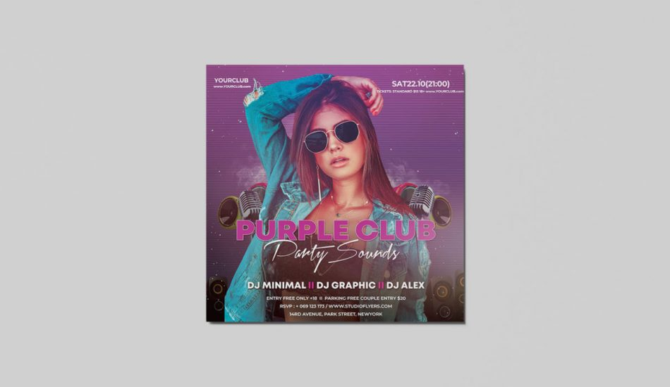 Fashion Event Free PSD Flyer Template