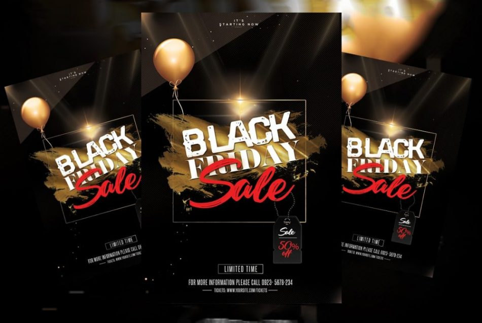Free Big Sale for Black Friday PSD Flyer Template