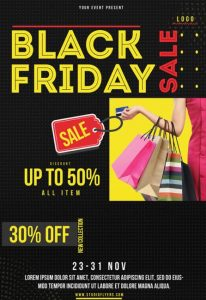 Free Black Friday PSD Flyer Template