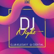 Free DJ Night Party PSD Flyer Template