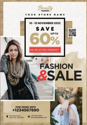 Free Fashion Sale Flyer Template PSD