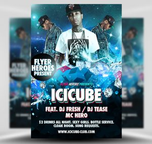 Free Icicube PSD Flyer Template